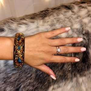 Jewelry - Gold and Teal Bangle